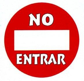 señal no entrar